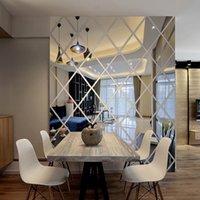 مرآة ملصقات الحائط الاكريليك جدارية اللوحة للإزالة إعداد الحديثة الإبداعية ذاتية اللصق غير الزجاج بلاط للفن غرفة نوم غرفة المعيشة 3d diy الشارات ديكور المنزل