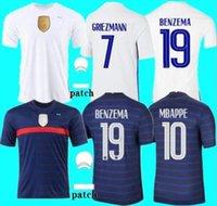 2020 Kupası Benzema Mbappe Griezmann Futbol Forması Pogba Giroud Kante Maillot De Ayak Ekip MAILLOYS Futbol Gömlek Üniformaları LA 2021 Erkekler Boyut S - 4 XL