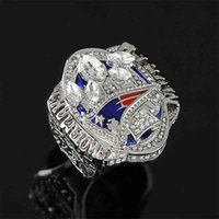 designer2017 Decoration high-luxury commemorative champion jewelry luxury high-quality New England Super Bowl master ring EditionRings for Women and men