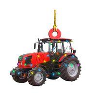 Carro de Natal Tag de madeira pingente artesanato criativo caminhão barco barco árvore de natal pingentes rra9189