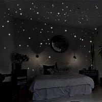 Wall Stickers 407Pcs Dots Moon Star Sticker Stars Glow For Kids Rooms In The Dark Home Decor Good Night Fluorescent Mural Poster