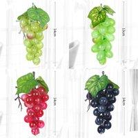 Frutas artificiales altas Decoración de la decoración de la decoración de cemento de plástico Simulado de la uva de caña de cemento con escarcha FALSA LUMBES GWE7108
