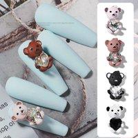 Ny design Misscheering Cute Bear Rhinestone Stickers för naglar Dekorationer 2021 Mode Nail Art Tillbehör för manikyr