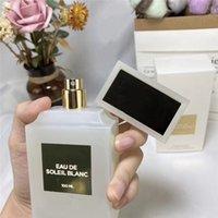Fabbrica Direct Air Deodenser 100ml Profumo Bottle smerigliato Eau de Soleil Blanc Top Quality Bello odore di lunga durata Tempo di lunga durata Consegna veloce