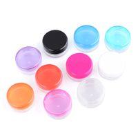 3G / 5G Plastica Cosmetic Jar Bottles Trucco Cream Nail Art Bead Container contenitore contenitore round bottiglia custodia