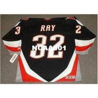 668 # 32 Rob Ray Buffalo sabre 1999 CCM de distância Home Hóquei Jersey ou Personalizado Qualquer nome ou Número Retro Jersey
