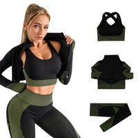 Seamless Yoga suit women' s new autumn and winter knitti...