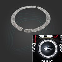 Decoração do volante do carro adesivo de cristal adesivo para mini cooper R55 R56 R60 Styling