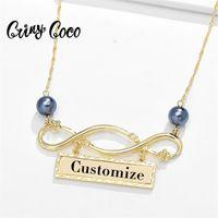 Cring Coco Collane in oro personalizzate per le donne Moda Hawaiia Pearl Catena perla Infinity Geometric Ciondoli pendenti Collana Anno Regali