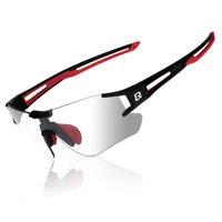 Rockbros PhotoChromic Polarized Outdoor Eyewear Occhiali da sole per biciclette Occhiali da ciclismo Occhiali da ciclismo UV400 Goggles sportivi