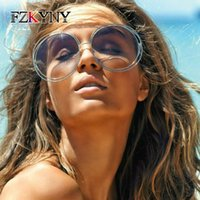 نظارات شمسية Fzkyny السيدات الكلاسيكية خمر الصيف بارد ماركة مصمم المرأة الملونة أنيقة سلك سلك الإطار النظارات