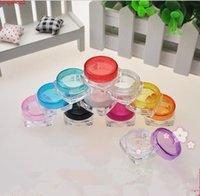 3 g 5 Leerer klare Lucency-Kunststoffverpackung Flaschen Jar Eye Gel Kosmetische Creme Probe Pack ContainerGood Menge
