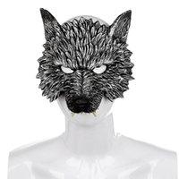Parti Masques Venise Sculpture Rétro Rome Wolf Head Head Masquerade Masque effrayant Masque effrayant Vénitien Carnaval Wolfclaw Gants