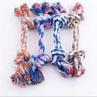 New17CM Dog Toys Pet Supplies Pet Cat Puppy Cotton Weaved Chews Knot Toy Durable Braided Bone Rope Funny Tool 550 S2
