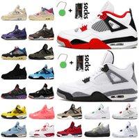 Nike Air Jordan 4 4s off white jordan retro 4 Travis Scott 4 PSG Kara Kedi Jumpman kadın erkek basketbol ayakkabıları Karnaval Mahkemesi ayakkabıları eğitmenler