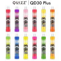 Orijinal Vapmod Quizz QD30 Artı Tek Kullanımlık Cihaz Kiti E-Sigaralar 4000 Puffs Şarj Edilebilir USB 650 mAh Pil 12 ml Tercih Pod RGB Işık Vape Kalem 100% Otantik