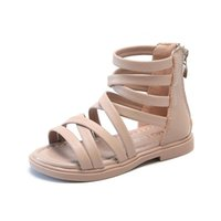 Sandals Chaussure Fille Girls Shoes Baby Roman Kids High Cut Hollow Gladiator Casual Beach Sapato Infantil