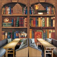Обои Фрески библиотека Библиотека книжный магазин Исследование фона стены стикер PVC Wallpaperscustom обои европейский стиль ретро книжная полка деревянная рамка