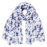 10ピース/ロットアニマルプリントスカーフ冬ファッション馬印刷スカーフ卸売180 * 90センチ8色