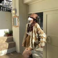 Women's Jackets 2021 Spring And Autumn Pure Color Temperament Is Thinner Age-reducing Wild Contrast Round Neck Single-breasted Sw