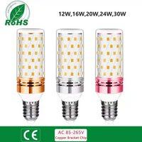 LED-Lampen 12 16 20 24 Watt 360 Winkel AC85-265V Indoor-Maislampe E14 E27-Lampenbasis für 2835sMD-Beleuchtung Beleuchtung Bulb mit niedrigem Energieverbrauch und PC-Lampenschirm