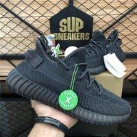 Top Quality Kanye Boost Homens Mulher Malha Esportes Correndo Sapatos Mono Pérola Zebra Cauda Luz Cinzas Estáticas Reflexivas Sneaker Plataforma Plana Sapatilhas
