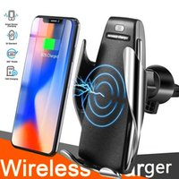 S5 Wireless Car Charger Fast 10W Qi Car Charger Vent Mount phone Holder Stand For iPhone 8 x 11 12 android phone All Qi Devices Retail Box