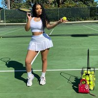 Women's Tracksuits 2021 Lovely Street Sexy Pure Color Nightclub Style Slim Sports Vest Culottes Two Piece Set