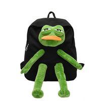 Школьные сумки лягушка стерео кукла рюкзак мультфильм девушки холст сумка Kawaii женское плечо большой емкости женщины