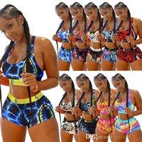 Femmes Ethika Ensemble de maillots de bain Maillots de bain Combinaison de bain 2 pièces Bikini Maillots Sunsuits Sexy Beach Porter Yoga Fitness Tenue de remise en forme Été Natation Vêtements Réservoir XS-XL