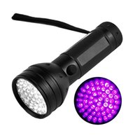 Portable 51led UV LED Purple Light Black Torcia Lampada alluminio in alluminio 365-410nm Rilevato con contraffazione Lampada di illuminazione della torcia 72 x2