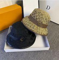 2021 Mode Eimer Hut Hohe Qualität Voller Brief Druck Designer Kappen Hüte Cowboy Herren Brown Casual Designer Hut