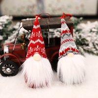 оптом рождественские плюшевые эльф игрушка безликий гном лес пожилой красный орнамент кукла кукла рождественские украшения деревьев украшения вечеринка декор детей подарок