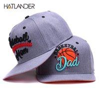 Hatlander Original Semi Curved Snapback Caps Mom Baseballmütze Vati Basketballmütze Paare Grau Hip Hop Hut Knochen Sport Hüte