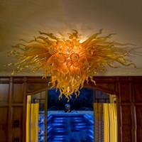 Lampada da soffitto a soffitto di lusso LED lampadario a soffitto a soffitto a soffitto a soffitto a soffitto a soffitto a soffitto in vetro soffiatore