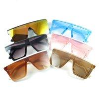 Unisex Mode Square Kinder Sonnenbrille Baby Übergroße Farbtöne Vintage Marke Designer Silber Spiegel Kinder Gläser Beliebte Sonnenbrille 2066 Y2