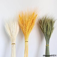 Decorative Flowers & Wreaths 50Pcs Real Wheat Ear Flower Decoration Natural Pampas Tail Grass Dried For Wedding DIY Crafts Scrapbook