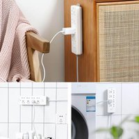 Hooks & Rails Powerful Traceless Wall-Mounted Sticker Plug Fixer Home Self-Adhesive Socket Cable Wire Organizer Seamless Strip Holder