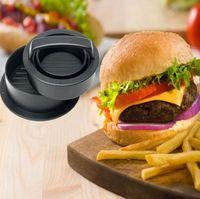 ABS Hamburger Press Carne Pie Press Piewed Burger Muish Maker con teglia di carta Liners Patty Pasticceria Strumenti per pasticceria BBQ Accessori da cucina BBQ