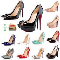 Frau rot unterseite high heels plattform peep-toes sandalen designer sexy spitze rot sohle 8 cm 10 cm 12 cm pumpen luxus womens brautkleid schuhe nackt schwarz glänzend