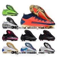 Hediye Çantası Erkek Yüksek Ayak Bileği Futbol Çizmeler Phantom GT Elite FG Firma Zemin Cleats Açık Dinamik Fit DF 3D Akrep Futbol Ayakkabıları