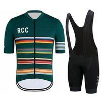 Гоночные наборы RCC с коротким рукавом дышащий езды на велосипеде Джерси набор летних МТБ спортивный велосипед одежда мужская одежда нагрудник гель костюм комплект Ciclismo