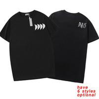 Футболка моды для мужчин Женские летние дизайнерские футболки TEE с буквами цветочные повседневные с короткими рукавами Homme одежда 6 стилей