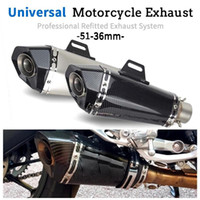 Universal 345MM Motorcycle Exhaust Pipe Scooter Motocross Mu...