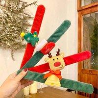 Christmas Bracelet Clap Circle Toys Kids Favor Gifts Santa Claus Christmas Birthday Party Decor Theme GWF11131