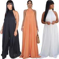 여성 디자인 의류 패션 섹시한 메쉬 느슨한 스트레이트 대형 크기 Jumpsuit 새로운 목록 2020 DHL
