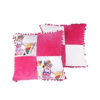 Home Textiles Blank Sublimation Pillow Case 40*40cm Heat Transfer Throw Cushion Cover Home Sofa Pillow cases