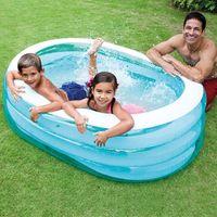 Accesorios de la piscina Inflación para bebés Oval Natación Océano Verano Bola Soft Playground Children Water Party Toy Padres-Child Actividades Niños Bea