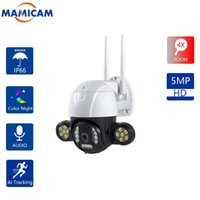 Cameras 5MP 12PCS Floodlights PTZ Camera Wifi 360 Outdoor Wireless Home Security AI Human Detection Alarm 30M Color Night Vision