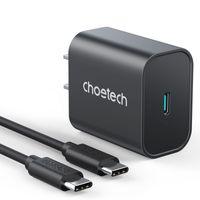 Clotech USB C Blocco caricabatterie da parete, 25W Super Fast Charging PD Adattatore di alimentazione con cavo tipo-C 6.6ft